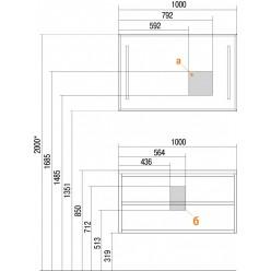 Мебель для ванной Акватон  Римини 100