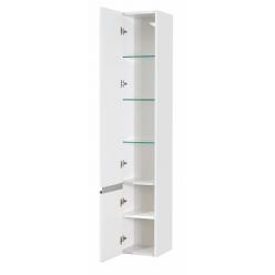 Шкаф-колонна Акватон Капри белый глянец левая 1A230503KP01L