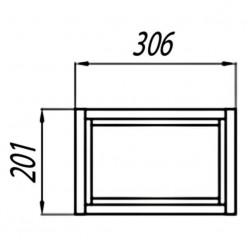 Модуль для шкафа открытый Акватон Брук дуб латте 1A202603BCDL0