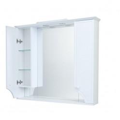 Зеркальный шкаф Акватон Элен 95 белый глянец 1A218602EN010