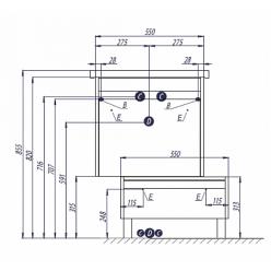 Тумба с раковиной Акватон Капри 60 бетон пайн 1A230101KPDA0