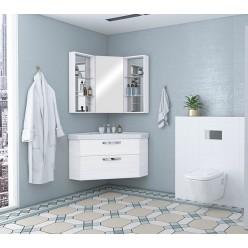 Угловая мебель для ванной Акватон Кантара 78 дуб полярный