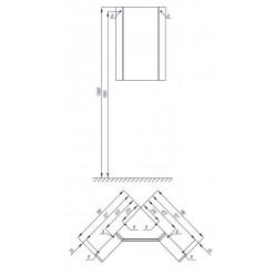 Центральный модуль зеркального шкафа Акватон Кантара дуб полярный 1A205702ANW70