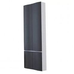 Шкаф-колонна Акватон Ондина двустворчатая графит 1A175803ODG20