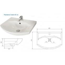 Мебель для ванной Акватон Рико 65 белый/ясень фабрик