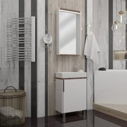 Зеркальный шкаф Акватон Бэлла 46 белый/джарра 1A221702BBAZ1