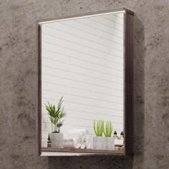 Зеркальный шкаф Акватон Стоун 60 грецкий орех 1A231502SXC80