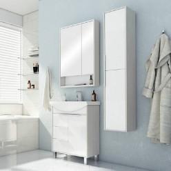 Зеркальный шкаф Акватон Рико 65 белый/ясень фабрик 1A215202RIB90
