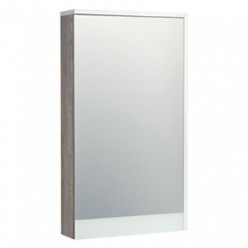 Зеркальный шкаф Акватон Эмма 46 белый/дуб наварра 1A221802EAD80