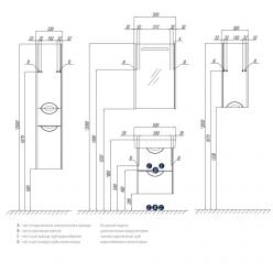 Шкаф одностворчатый Акватон Сильва дуб фьорд левый 1A215703SIW6L