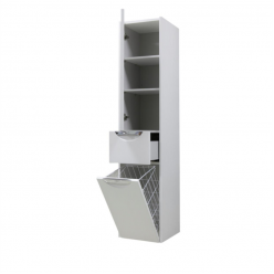 Шкаф-колонна Акватон Сильва дуб полярный правая 1A215603SIW7R