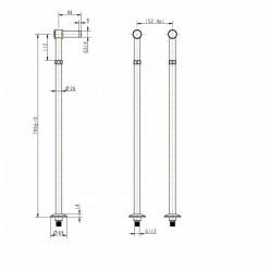 Boheme Brillante 603 держатели для напольного смесителя