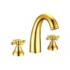 Boheme Tradizionale Oro 297 смеситель для раковины на 3 отверстия