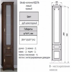 Шкаф-колонна Акватон Идель