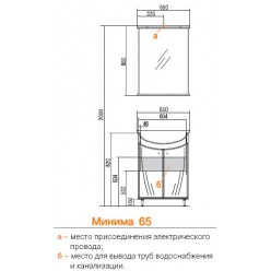 Мебель для ванной Акватон  Минима 65