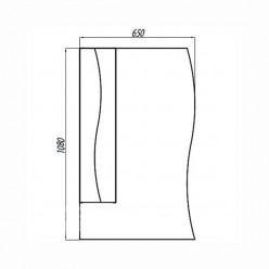 Зеркальный шкаф Акватон ДИОНИС 67 левое 1A006002DS01L