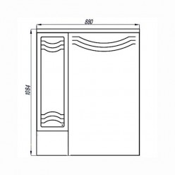 Зеркальный шкаф Акватон ДОМУС 95 левый 1A001002DO01L