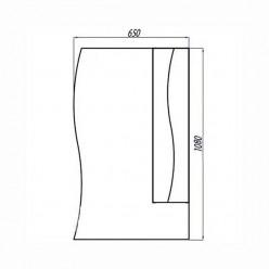 Зеркальный шкаф Акватон ДИОНИС 67 правое 1A006002DS01R