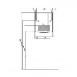 Зеркальный шкаф Акватон ИНФИНИТИ 65 ясень коимбра 1A197002IFSC0