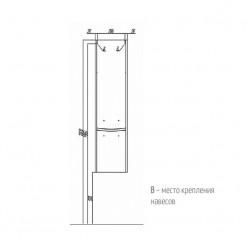 Шкаф-колонна Акватон ИНФИНИТИ белый глянец  1A192303IF01L левый