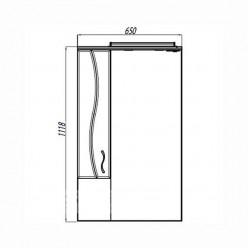 Зеркальный шкаф Акватон ДИОНИС 67 М левое 1A008002DS01L