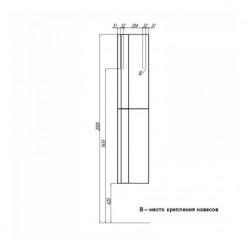 Шкаф-колонна Акватон МАРКО белый 1A181203MO010