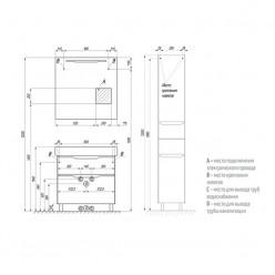 Шкаф-колонна Акватон ДАКОТА белый/выбеленое дерево 1A203203DAAY0