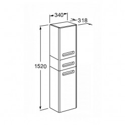Шкаф-колонна Акватон АМЕРИНА чёрный 1A135203AM950