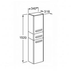 Шкаф-колонна Акватон АМЕРИНА тёмно-коричневый 1A135203AM430
