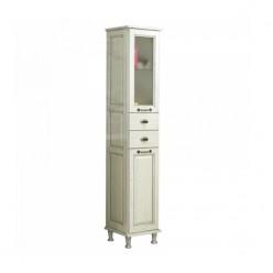 Шкаф-колонна Акватон ЖЕРОНА белое серебро 1A158903GEM2R правый