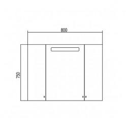 Зеркальный шкаф Акватон МАДРИД 80 1A175202MA010