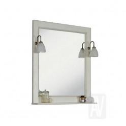 Зеркало Акватон ЖЕРОНА 85 белое серебро 1A158702GEM20