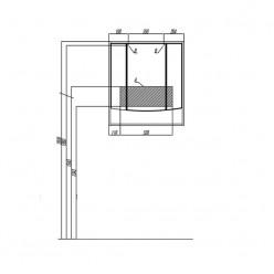 Зеркальный шкаф Акватон ИНФИНИТИ 76 белый глянец 1A192102IF010