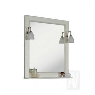 Зеркало Акватон ЖЕРОНА 105 белое серебро 1A158802GEM20