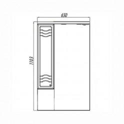 Зеркальный шкаф Акватон ДОМУС 65 левый 1A008202DO01L