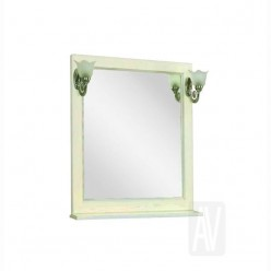 Зеркало Акватон ЖЕРОНА 105 белое золото 1A158802GEM40