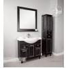 Мебель для ванной Акватон Жерона 85 цвет чёрный с серебряной патиной
