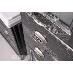 Мебель для ванной Акватон Жерона 105 цвет чёрный с серебряной патиной